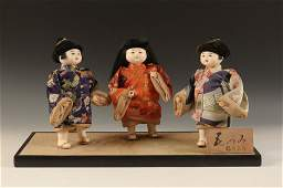 THREE VINTAGE JAPAN HINAMATSURI DOLLS