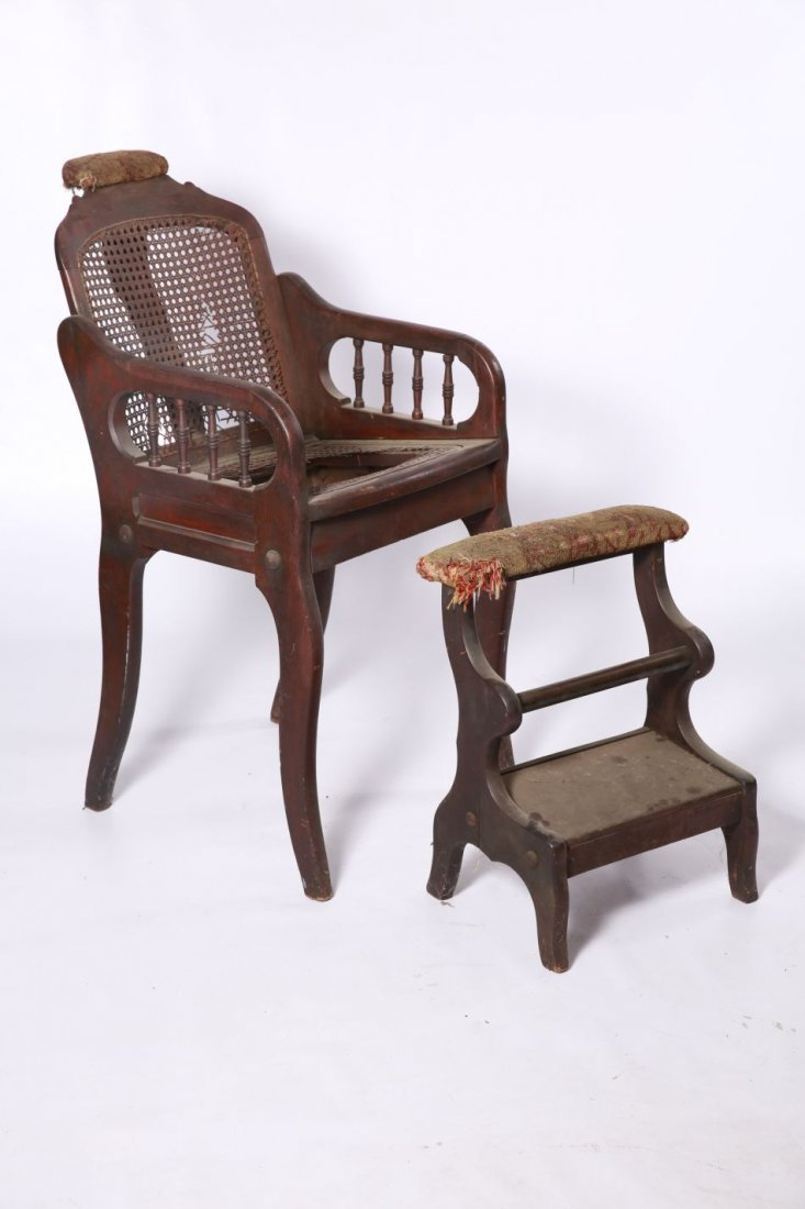 CIRCA 1880 JOSEPH CLOUGH BARBER'S CHAIR