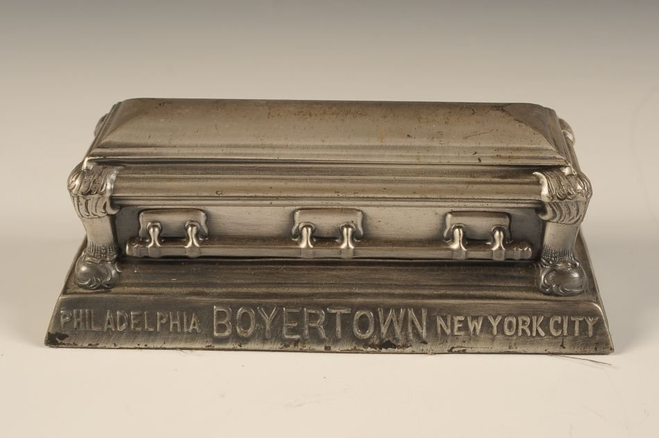 THE BOYERTOWN CASKET COMPANY ADVTG PAPERWEIGHT - 5