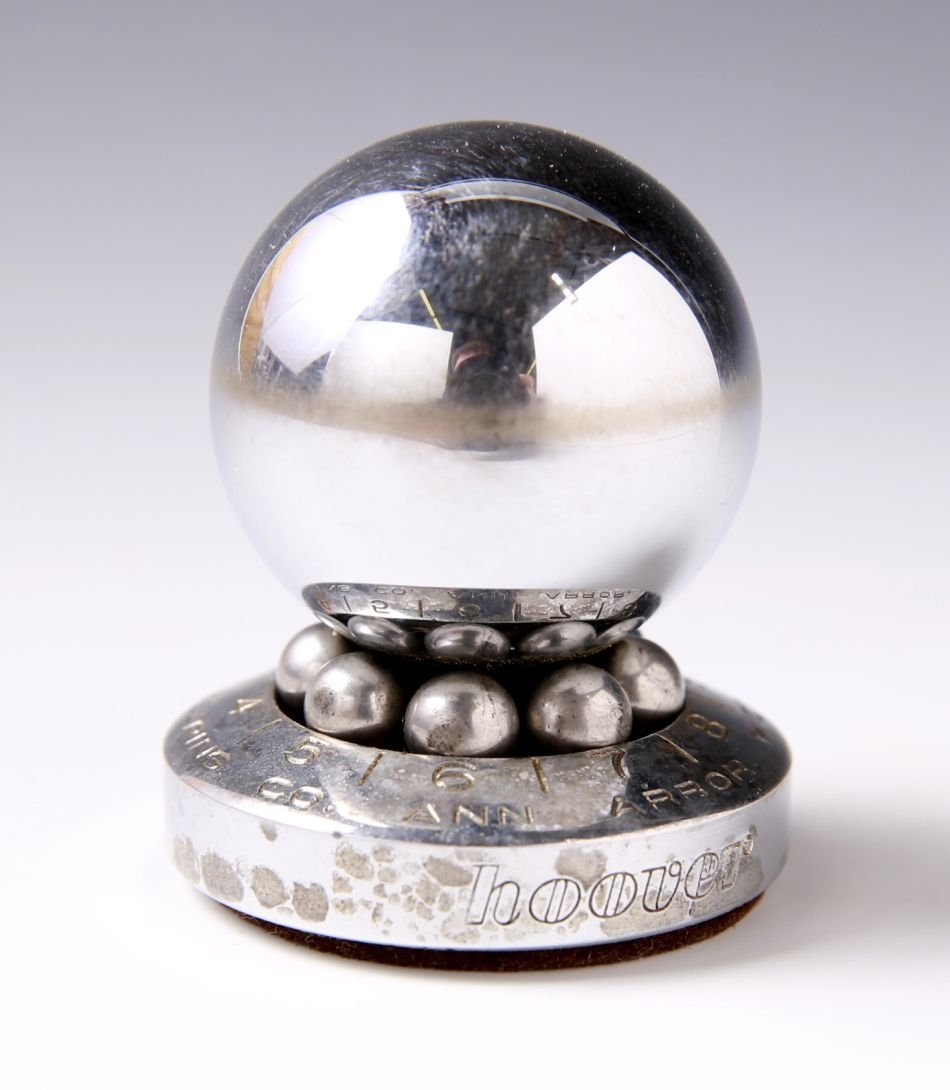 HOOVER BALL BEARING COMPANY ROULETTE ADVTG PAPERWEIGHT