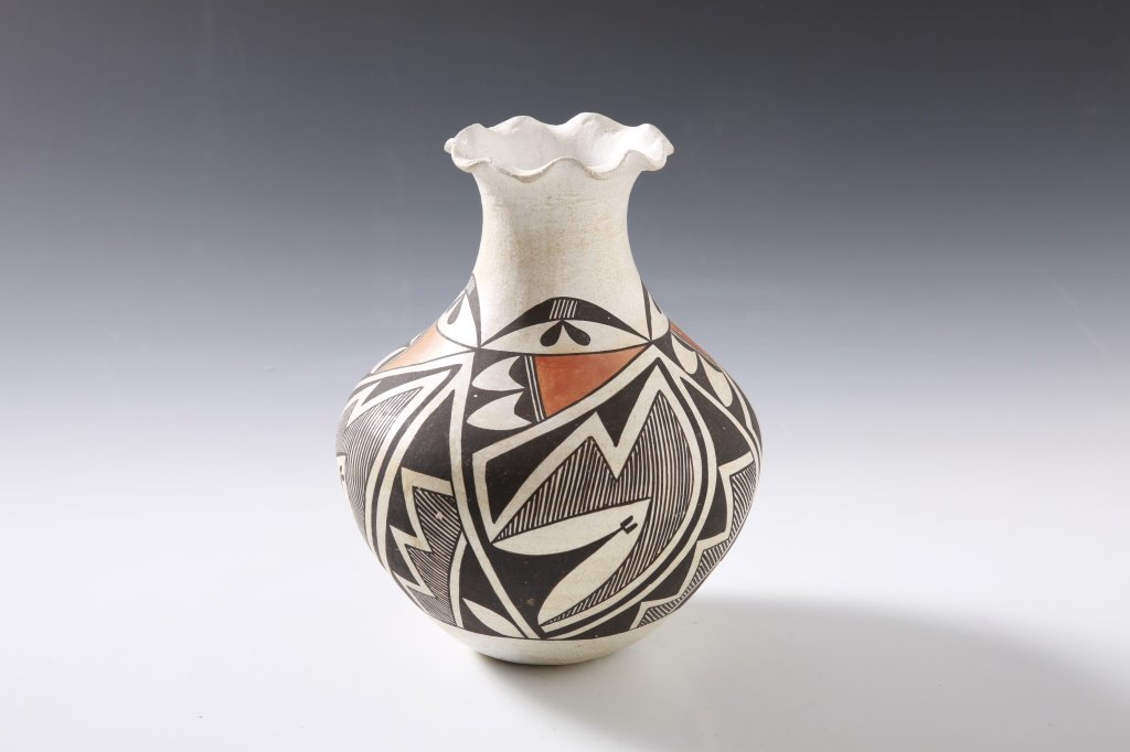 LUCY M. LEWIS 1966 ACOMA VASE 9 INCHES