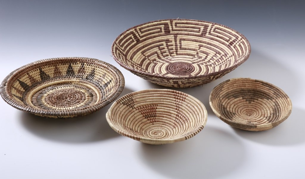 FOUR AFRICAN BASKETS