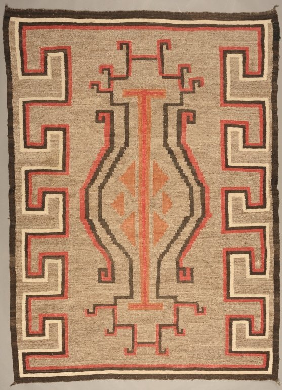 NAVAJO WEAVING WITH LARGE BOLD DESIGNS