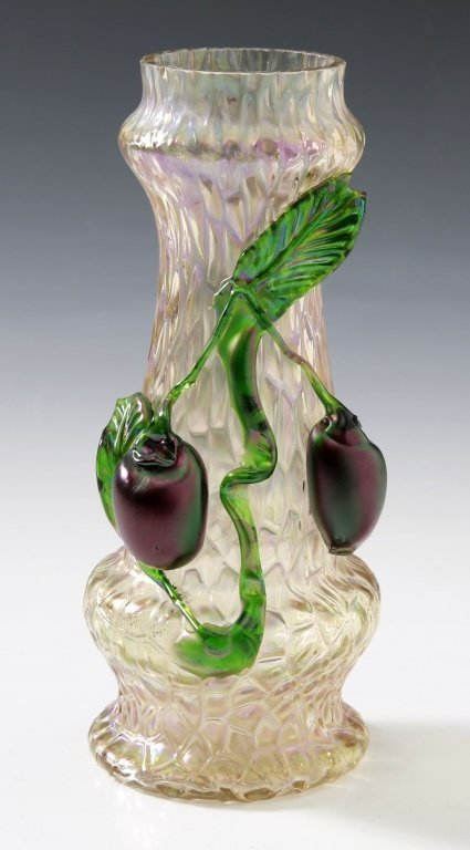 AUSTRIAN ART GLASS VASE ATTRIBUTED TO KRALIK