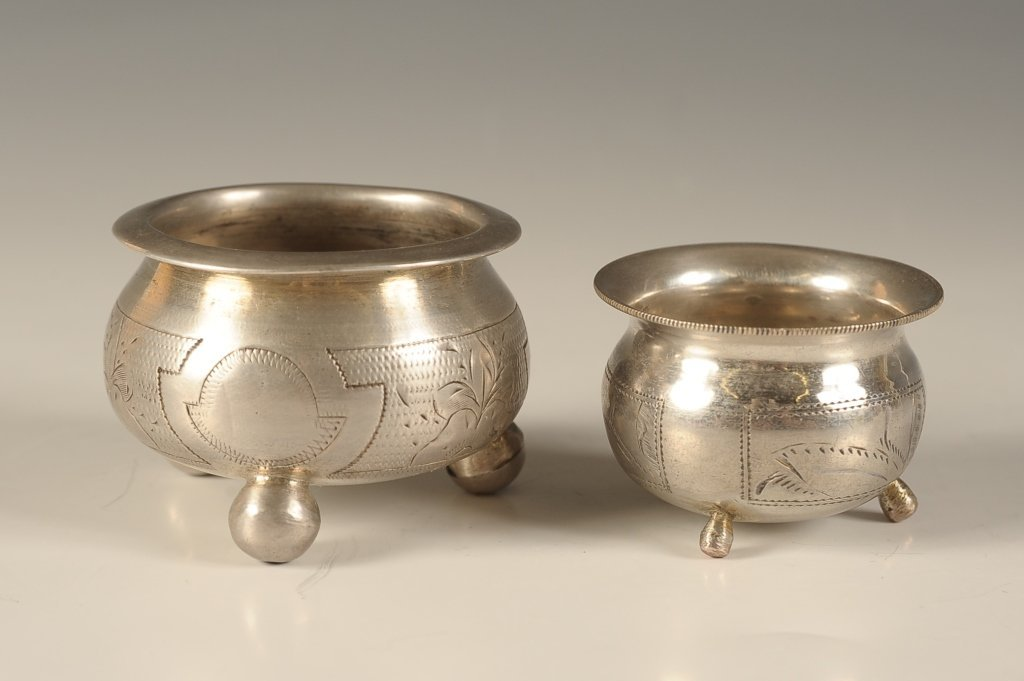 RUSSIAN 84 STANDARD SILVER SALT CELLARS