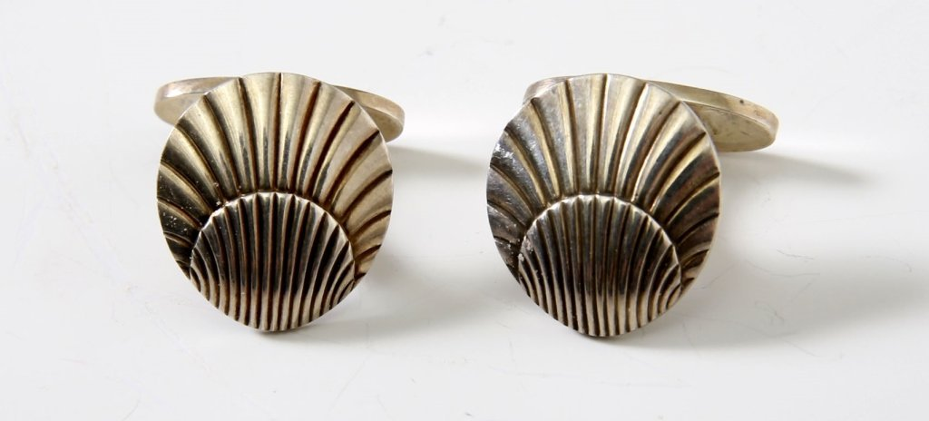 PAIR OF GEORG JENSEN STERLING CUFFLINKS