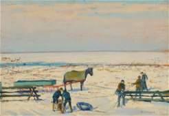 ROBERT CHADEAYNE (1897 - 1981) OIL ON PANEL