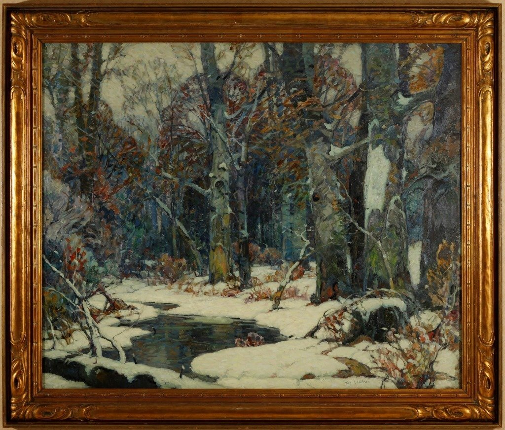 JOHN F. CARLSON (1874-1945) OIL ON CANVAS EXHIBITED