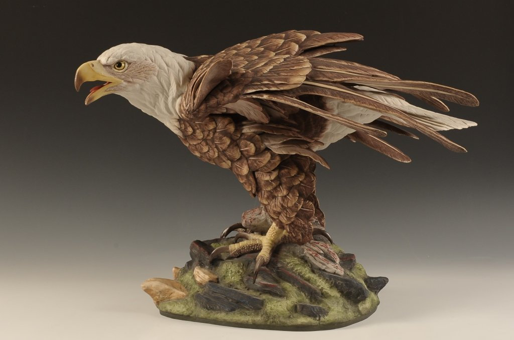 "16 X 20 BOEHM PORCELAIN BALD EAGLE ""EAGLE OF FREEDOM"