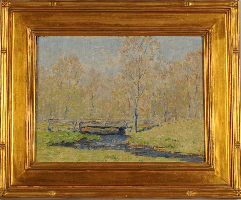CLARK VOORHEES (1871-1933) OIL ON ARTIST'S PANEL