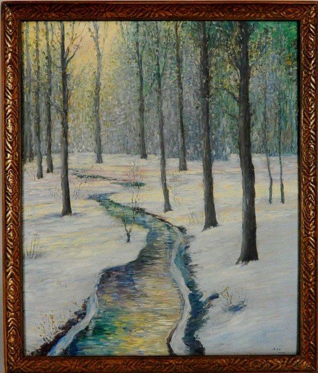 GEORGE VAN MILLET (1864-1933) OIL ON CANVAS