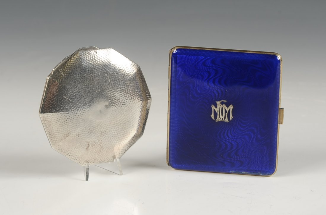 AUSTRIAN STERLING GUILLOCHE CIGARETTE CASE & STERLING