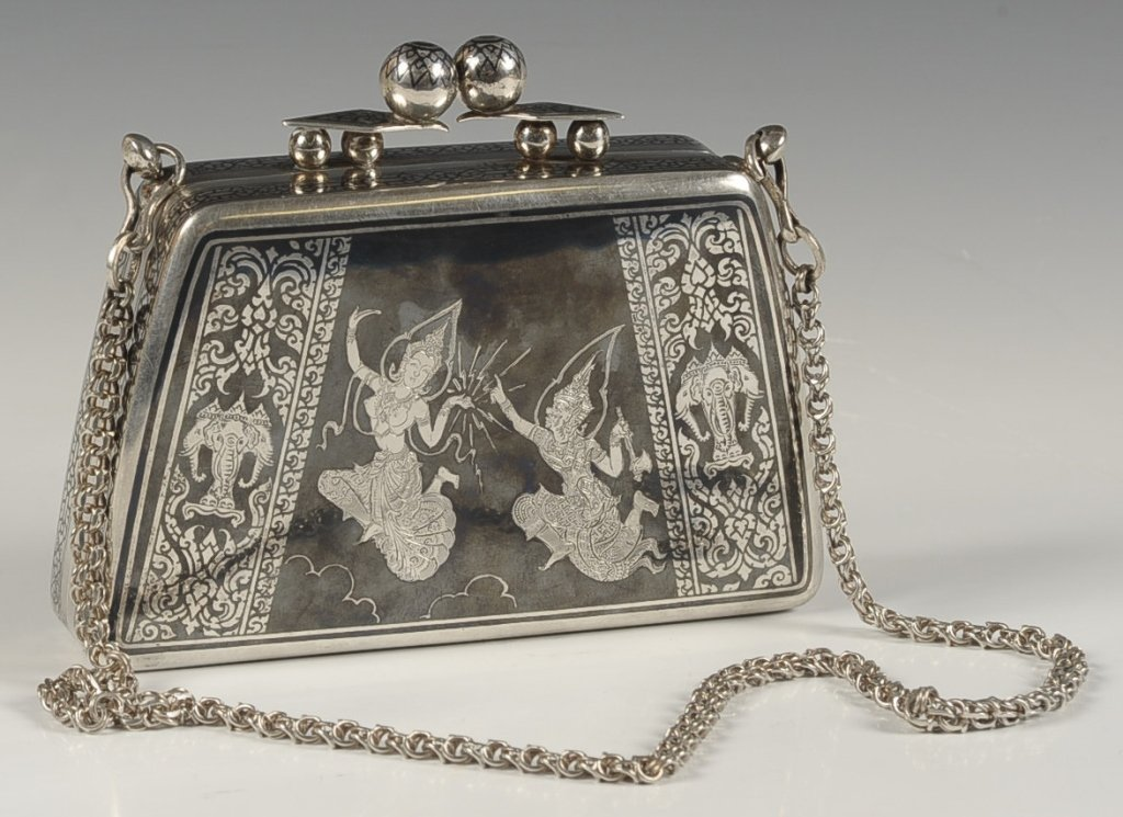 1951 THAI STERLING MINIAUDIERE OR PURSE