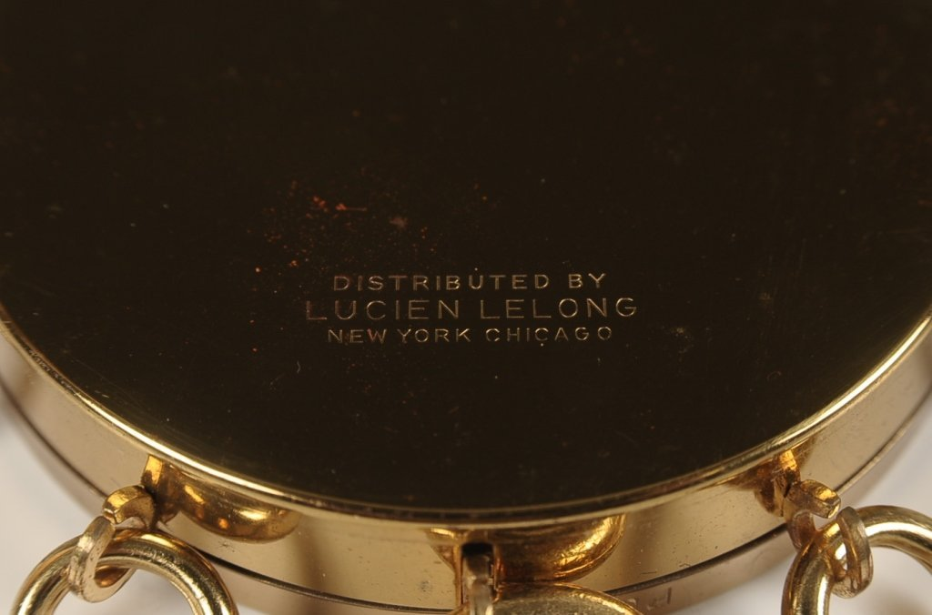 LUCIEN LELONG TAMBOURINE COMPACT W ORIGINAL BOX - 6
