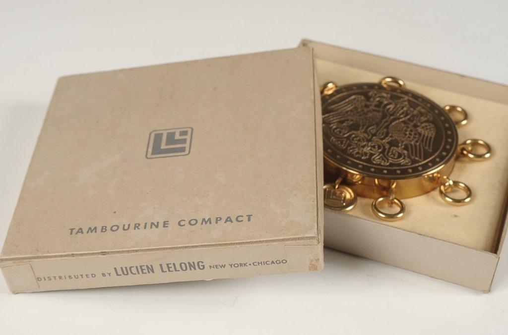 LUCIEN LELONG TAMBOURINE COMPACT W ORIGINAL BOX - 8