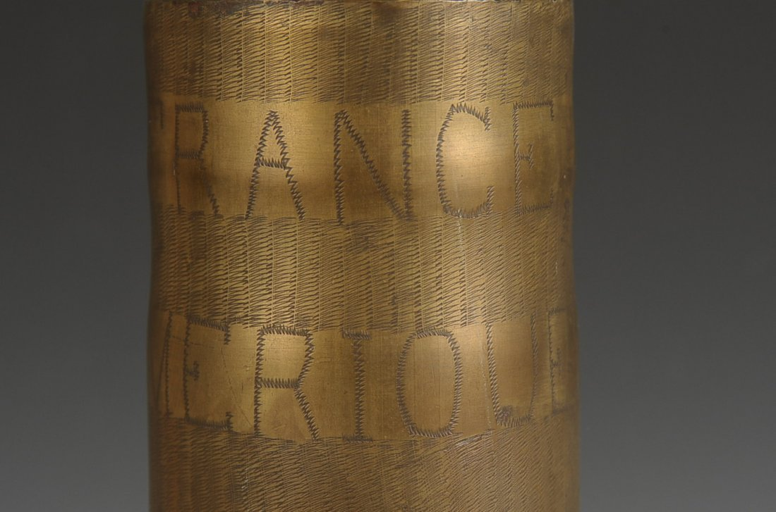 WWI TRENCH ART SHELL CASING, 26 SEPT. 1918 - 2