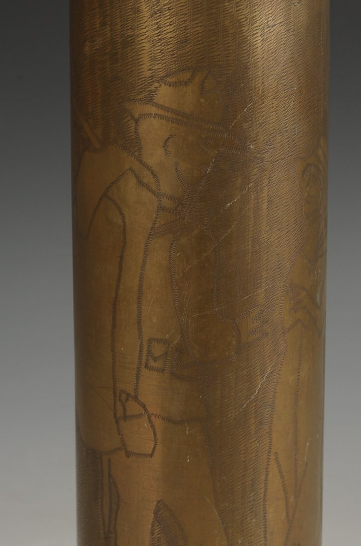 WWI TRENCH ART SHELL CASING, 26 SEPT. 1918 - 3