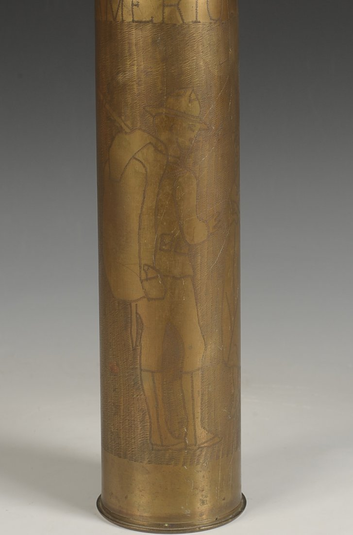 WWI TRENCH ART SHELL CASING, 26 SEPT. 1918 - 9