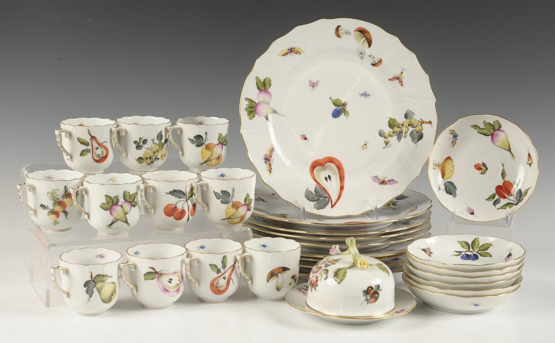 HEREND 'MARKET GARDEN' CHINA PARTIAL SERVICE