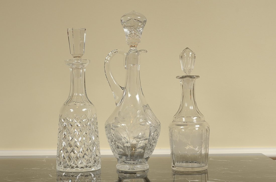 WATERFORD AND OTHER CRYSTAL DECANTERS