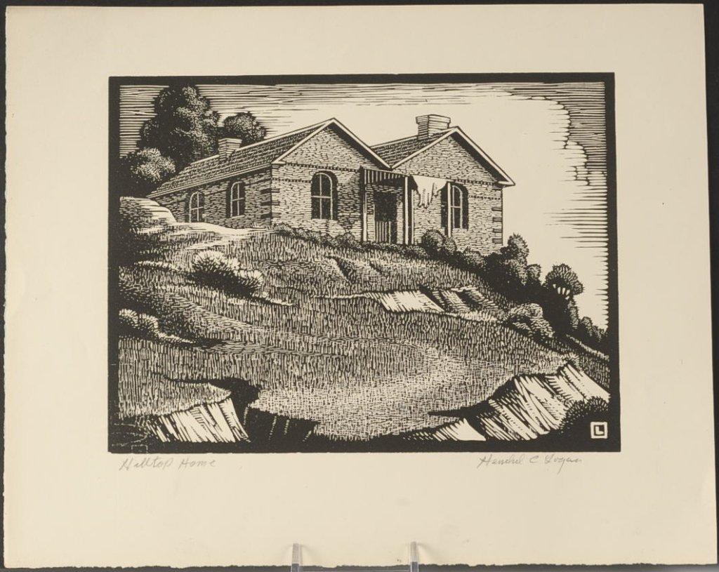 HERSCHEL LOGAN (1901-1987) PENCIL SIGNED WOODBLOCK