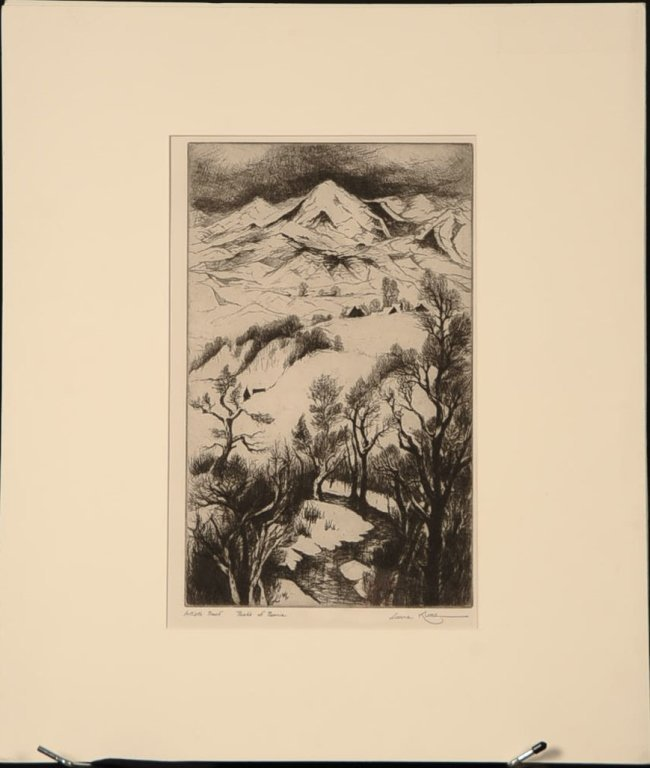 GENE KLOSS (1903-1996) PENCIL SIGNED ETCHING