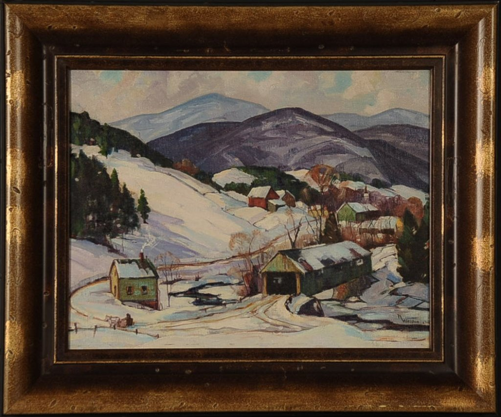 ROBERT SHAW WESSON (1902-1967) NEW ENGLAND LANDSCAPE