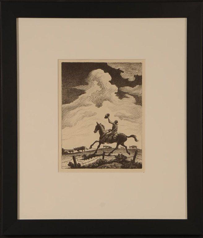 THOMAS HART BENTON (1889-1975) LITHOGRAPH
