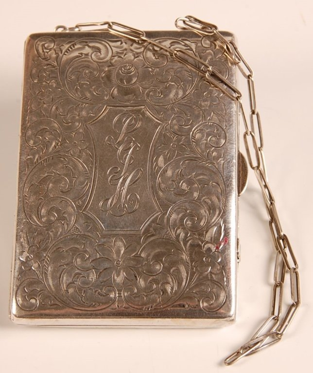 1916 HAND CHASED STERLING MINIAUDIÈRE