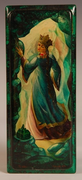 RUSSIAN LACQUER BOX 'THE FROG PRINCESS'