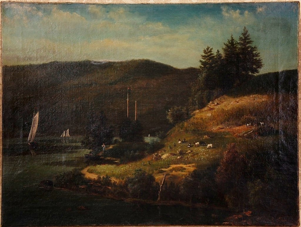 CONTINENTAL SCHOOL 19TH C. OIL ON CANVAS LANDSCAPE