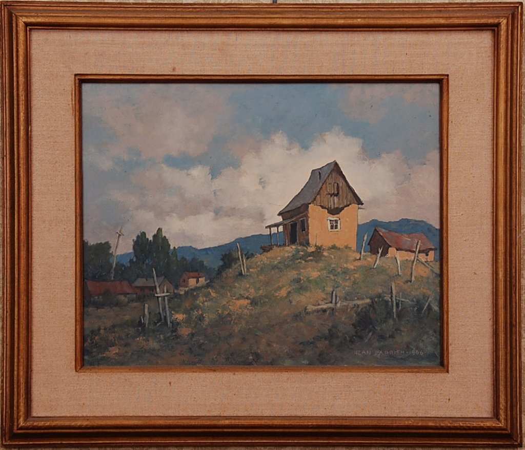 JEAN PARRISH (1911 - 2004) OIL ON MASONITE