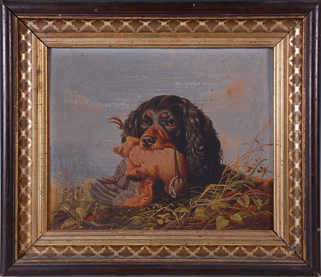 PRANG CHROMOLITHOGRAPH AFTER TAIT: SPANIEL WITH