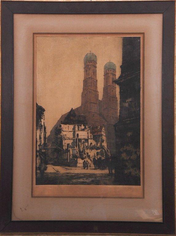 LUIGI KASIMIR (1881 - 1962) PENCIL SIGNED ETCHING