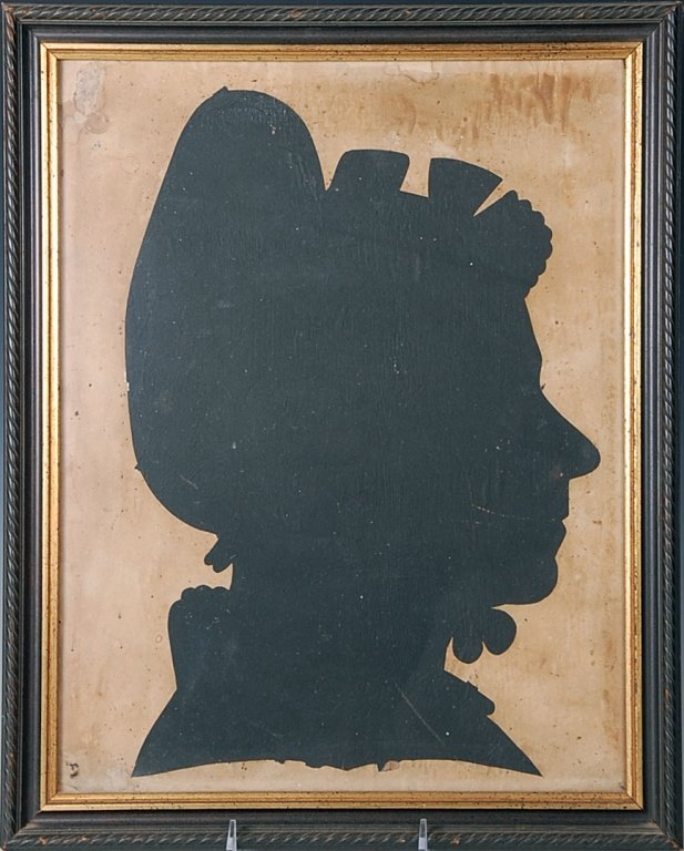 A LARGE 19TH CENTURY AMERICAN HOLLOW CUT SILHOUETTE