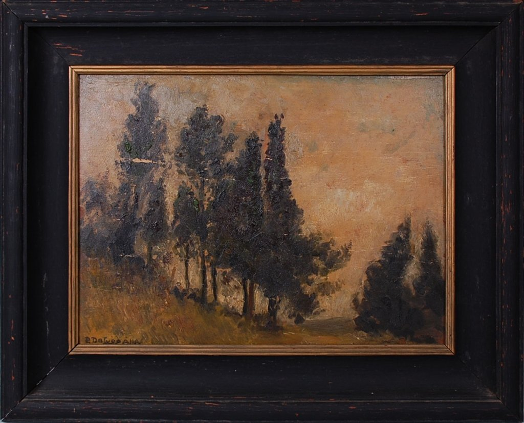 PERCIVAL DELUCE (1847 - 1914) OIL PAINTINGS (TWO WORKS)