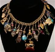 COLLECTION OF VICTORIAN AND OTHER FOBS, CHARMS AND