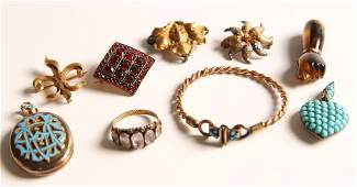 ESTATE LOT OF GOOD VICTORIAN JEWELRY
