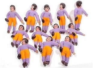 12 Japanese Celluloid Head Figures of Foo