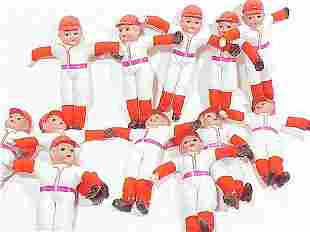 12 Japanese Celluloid Head Figures of Bas