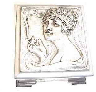 Art Nouveau Musical Cigarette Box 5.5 hig