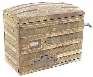 Cast Iron Still Bank in The Form of Trunk