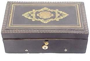 Small Swiss Music Box with Brass Inlay 5