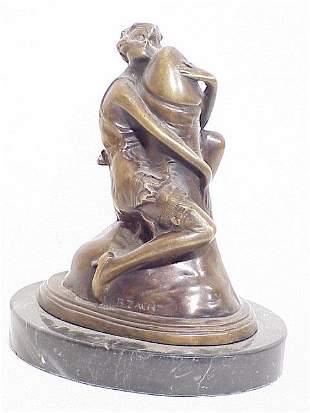 Contemporary Bronze Sculpture of an Eroti