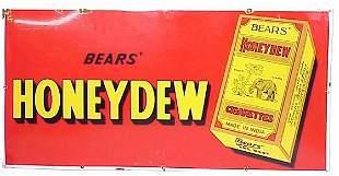 Bears' Honeydew Cigarettes Porcelain Sig