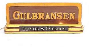 Gulbransen Pianos & Organs Lighted Sign