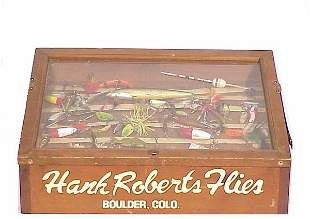 Hank Roberts Flies Fishing Lure Display