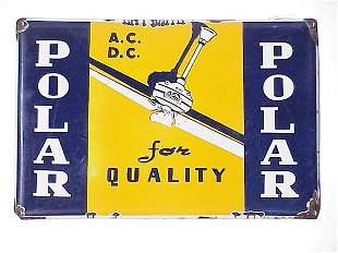 Polar Fans Porcelain Advertising Sign 12