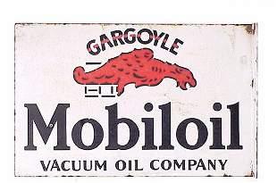 Gargoyle Mobiloil Double Sided Porcelain