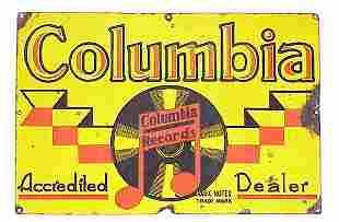 Columbia Records Porcelain Dealer Advert